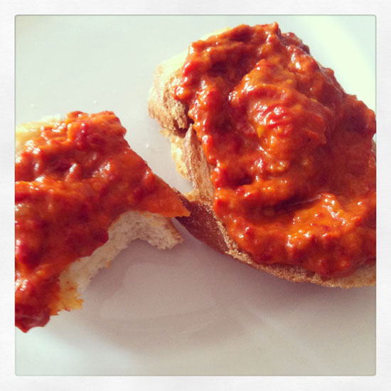 Bread and ajvar