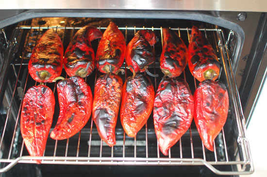 Peppers baked