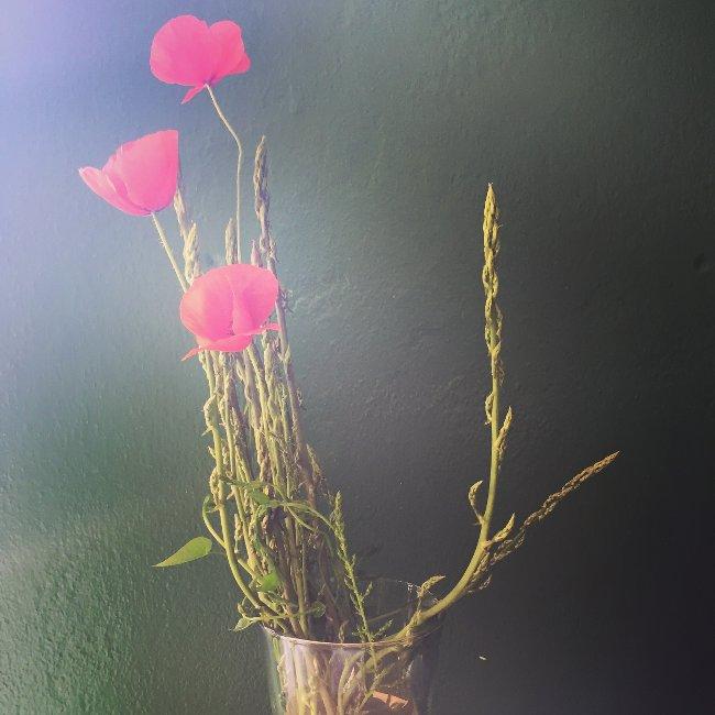poppies-asaparagus