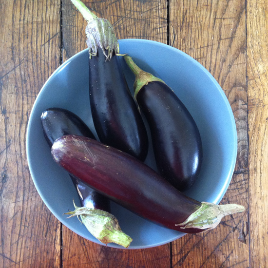 Our first aubergines