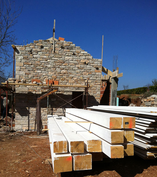 Beams – ready for the roof